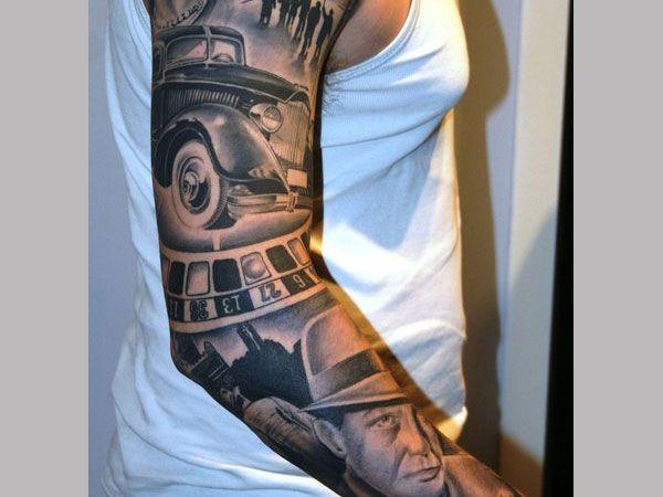 Gangsta Tattoo Ideas For Men 25 Groovy Gangster Tattoos Slodive Gangster Tattoos Sleeve Tattoos Tattoos