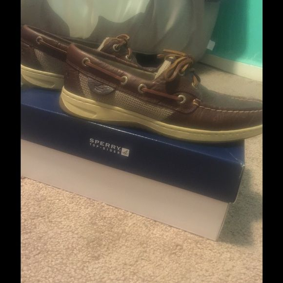 Brown Sperry's size 7 Brown Sperry's size 7 never worn, in box. Sperry Top-Sider Shoes Flats & Loafers