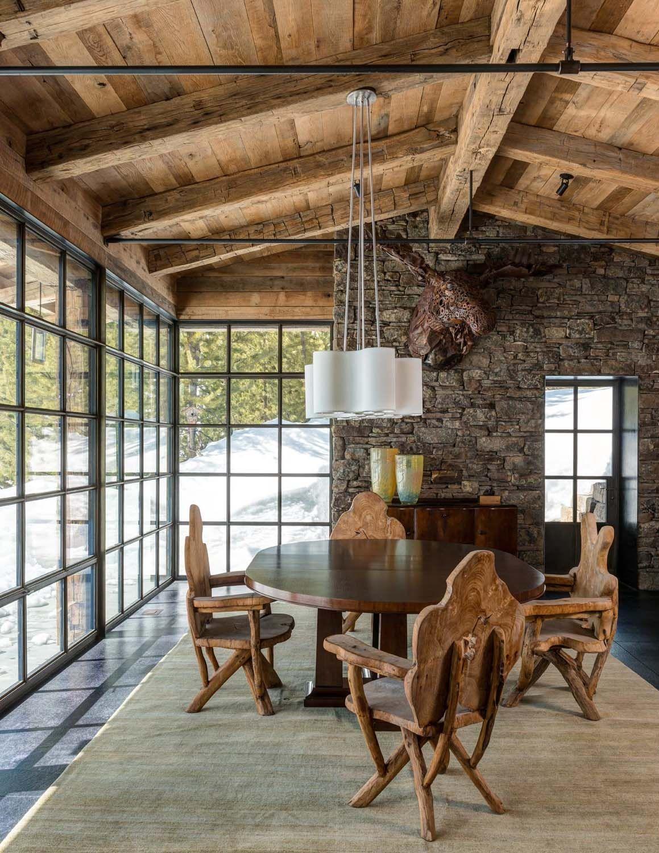 Cozy mountain cabin in Montana maximizes minimal space Cabin