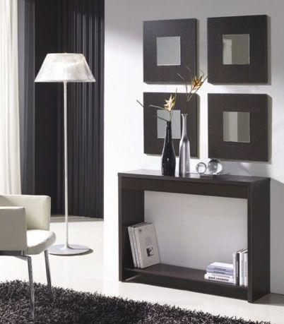 Muebles recibidores para entradas peque as color for Muebles modernos para apartamentos