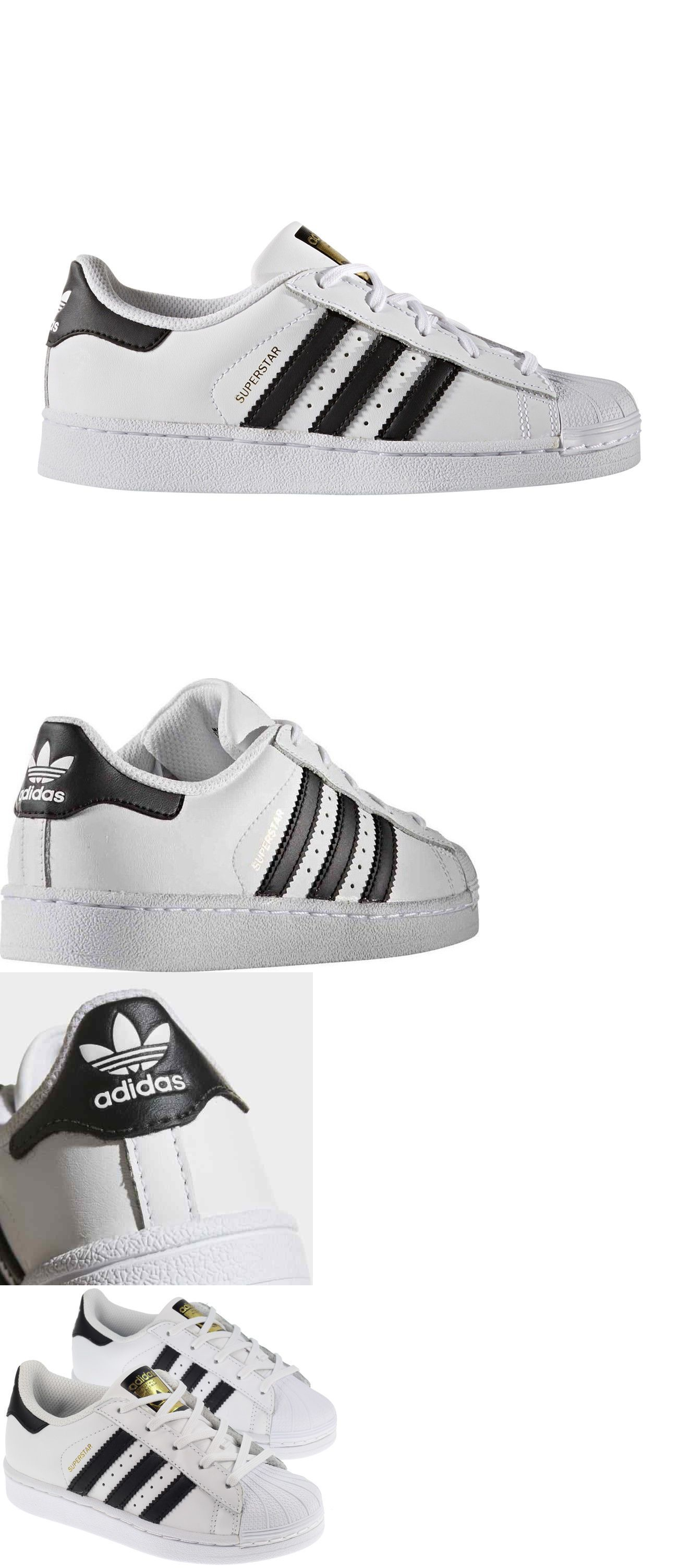 dca637e104b Boys Shoes 57929  Adidas Superstar Black White Ba8378 Leather Preschool  Kids Shoes -  BUY IT NOW ONLY   49.95 on  eBay  shoes  adidas  superstar   black ...