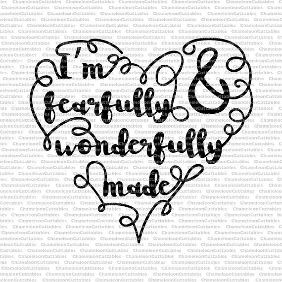 Download Fearfully and Wonderfully made heart svg by ...