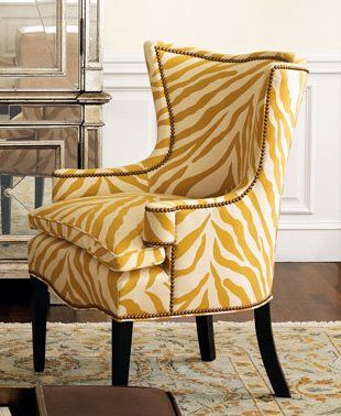 Sunflower Zebra Chair I Totally Want Two Of These For My Living