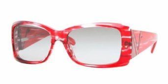 0a42e17207911 Vogue VO 2560 S (164411) STRIPED RED w  GRAY GRADIENT lens 52mm 15mm ...