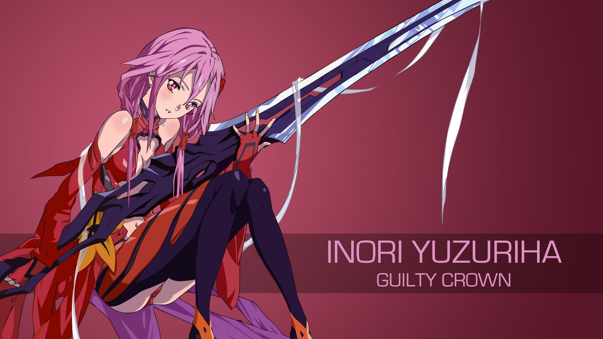 Anime Guilty Crown Inori Yuzuriha Fondo de Pantalla | Anime