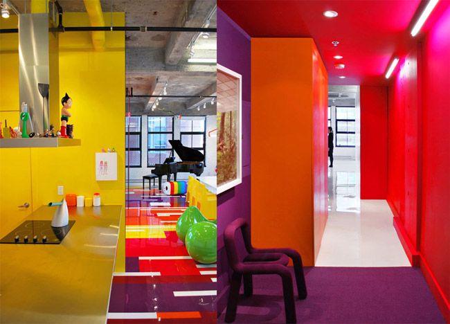 Designer loft architektur interieur pop art design for Loft interieur