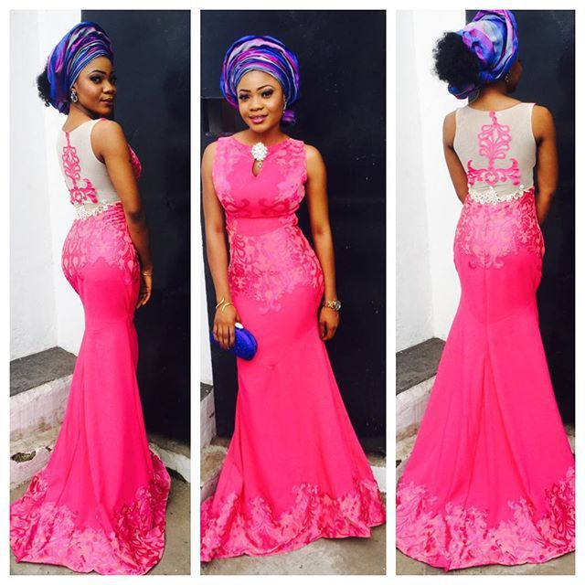 Image result for lace and ankara asoebi blend