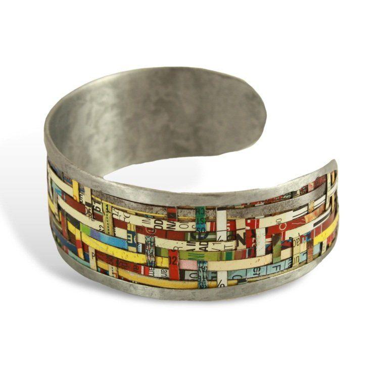 Small Woven Tin Bracelet
