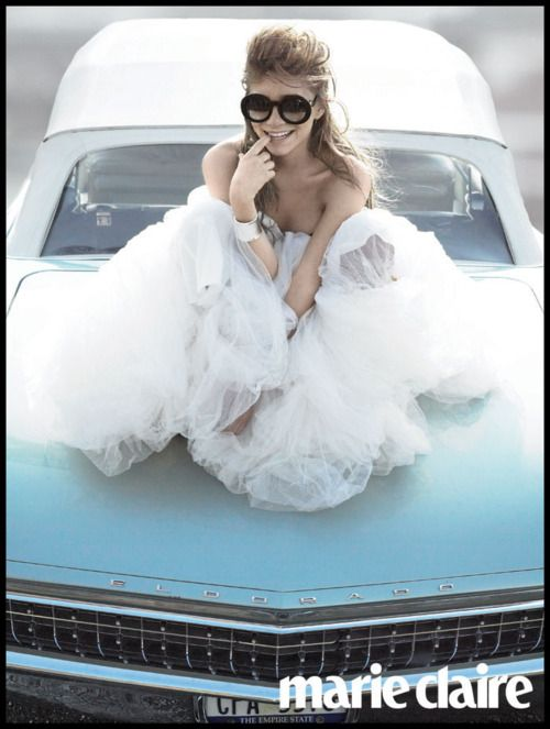 olsen..... the dress looks like if she is in a bubble bath. I like