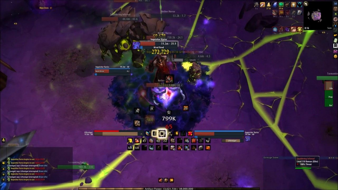 Prot Warrior Vs  Kruul Mage Tower Trial First boss Dead