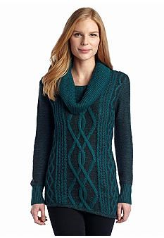 New Directions® Marled Cable Knit Sweater. cant decide if i like it yet