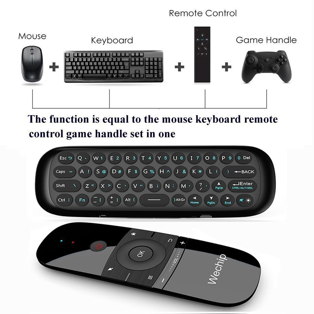 Mini Air Mousewechip 24g Smart Tv Wireless Keyboard Fly Mouse W1 R One Multifunctional Remote Control For Android Box Pc Projector Htpc All In