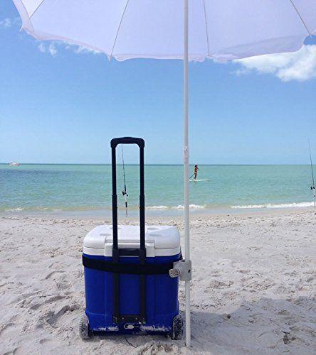 Beach Umbrella Anchor Mount Strap Shade Color Pink White Or Green