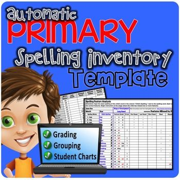 Primary Automatic Spelling Inventory Template Spelling words - inventory template