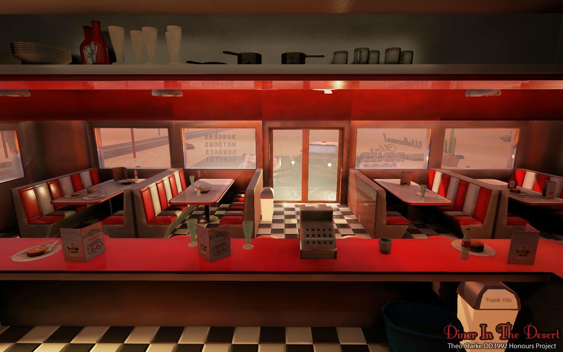 Diner 3D Model By Copycatz On Turbosquid - Diner In