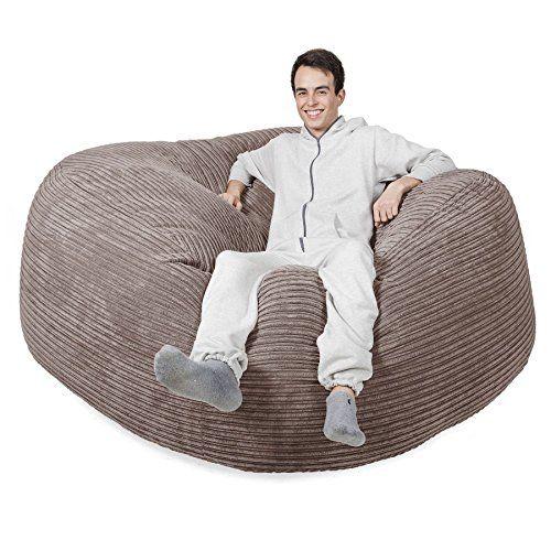 LOUNGE PUG® - CORD - GIANT Bean Bag SOFA - MEGA MAMMOTH - Beanbag -  MINK---168.95--- 225298446754c