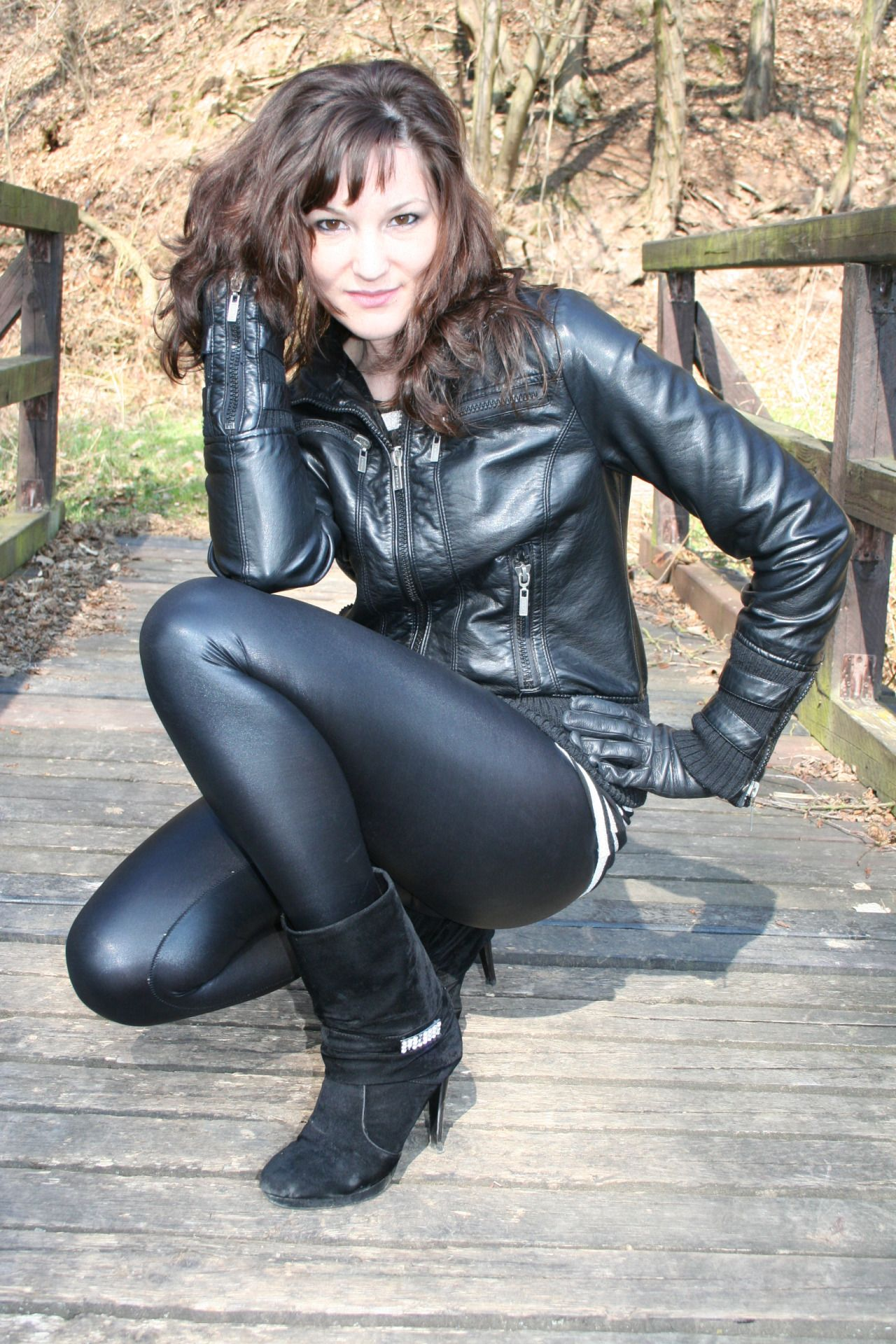 Consider, Nude women in leather pants consider