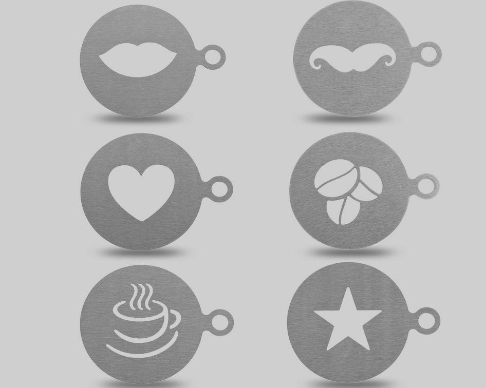 6 Piece Stainless Steel Coffee Stencils Price 3 50 Free Shipping Kitchenware