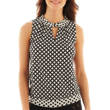 Worthington® Sleeveless Keyhole Top   found at @JCPenney