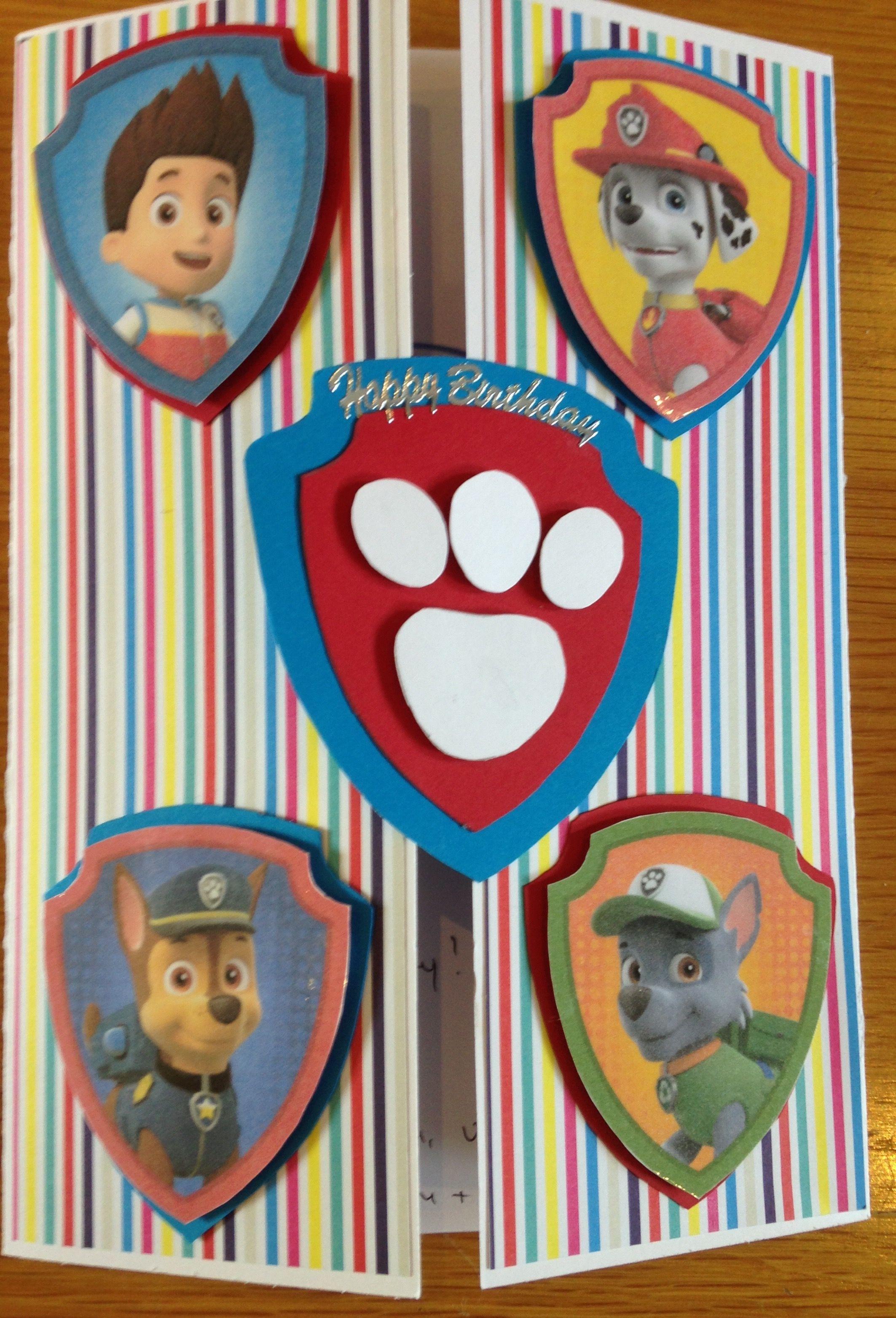 Paw Patrol Birthday Card My Creations Pinterest Paw Patrol