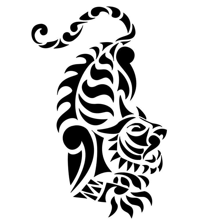 5cd8147e7 tatuaggio-maori-idea-forma-tigre | Maori tattoos | Tribal tiger ...