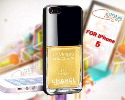 Mimosa Nail Polish Custom - design for iPhone 5 Black case