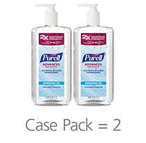 Purell Advanced Instant Hand Sanitizer 1 Liter Pump 2 Pk