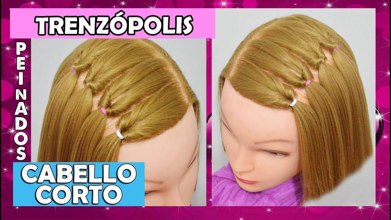 Peinados para cabello corto recogido para nina