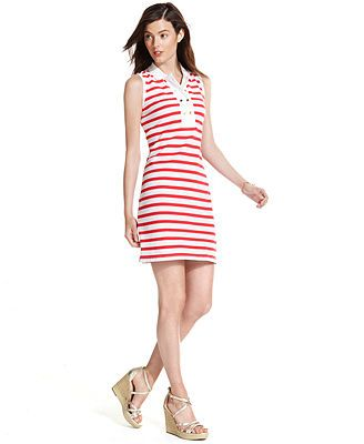 2867b5ea Tommy Hilfiger Sleeveless Striped Polo Dress   Clothing   Dresses ...