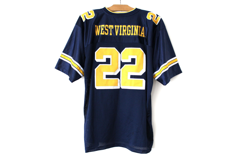 Vintage West Virginia Jersey, Blue Yellow Football Shirt, NFL ...