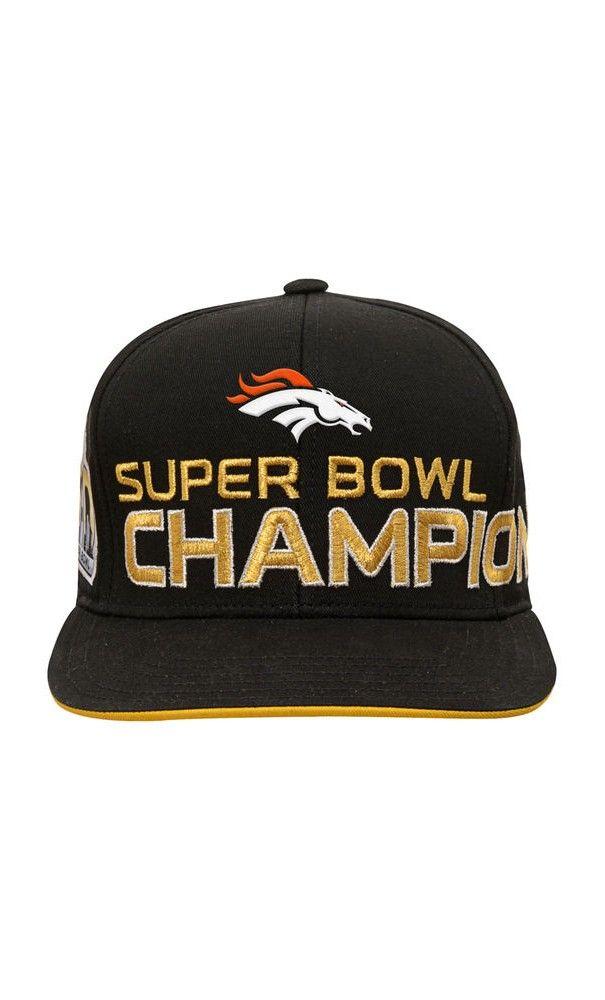 NFL Youth Denver Broncos Black Super Bowl 50 Champions Flatbrim Snapback  Adjustable Hat  SPORT  HAT aca1156db03