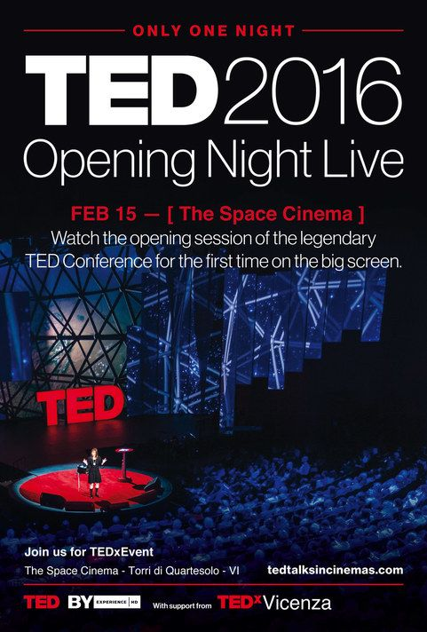 TED 2016 - OPENING NIGHT LIVE in Cinema - The Space Movie ...