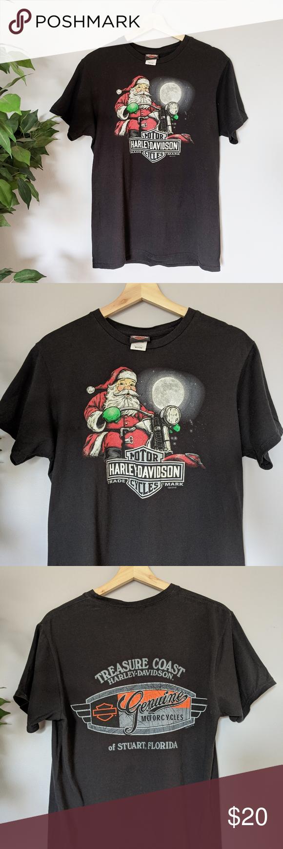 Harley Davidson Christmas tshirt Harley Davidson Christmas tshirt