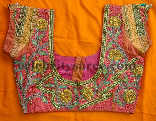 Latest Embroidered Blouse Designs Blouse Designs Saree Blouse And