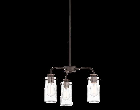 Semi Flush/Chandelier 3Lt - Kichler Lighting - pendant, ceiling, landscape light fixtures & more