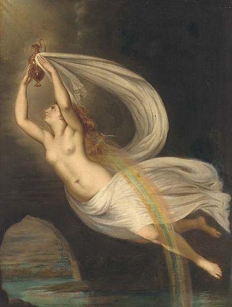 Painting of Greek Goddess Iris