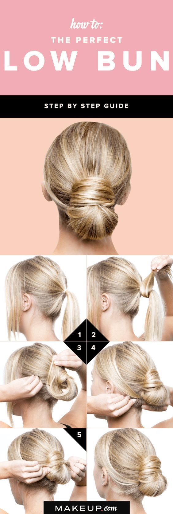 steps to create the perfect low bun h pinterest bun hair
