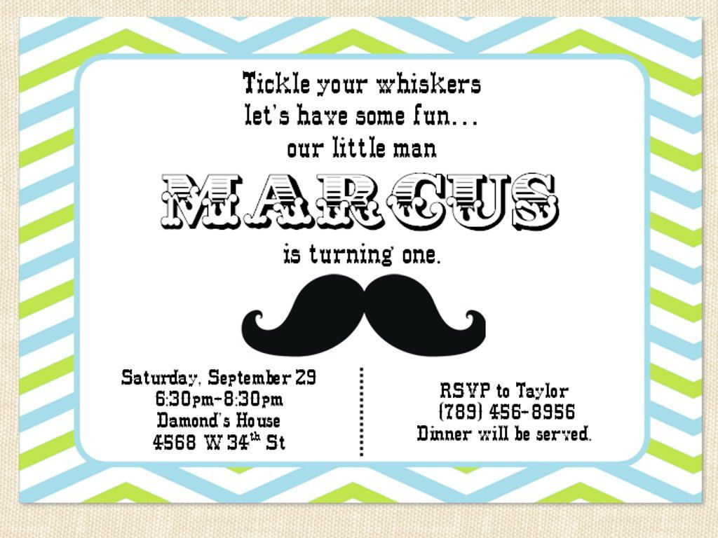 First Birthday Invitation Mustache Little Man Birthday Party lime ...