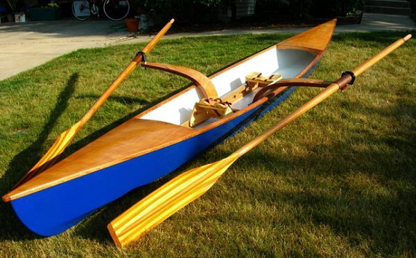 17' Sculling Skiff - recreational rowing shell-boatdesign | Rowing shell,  Rowing, Rowing scull