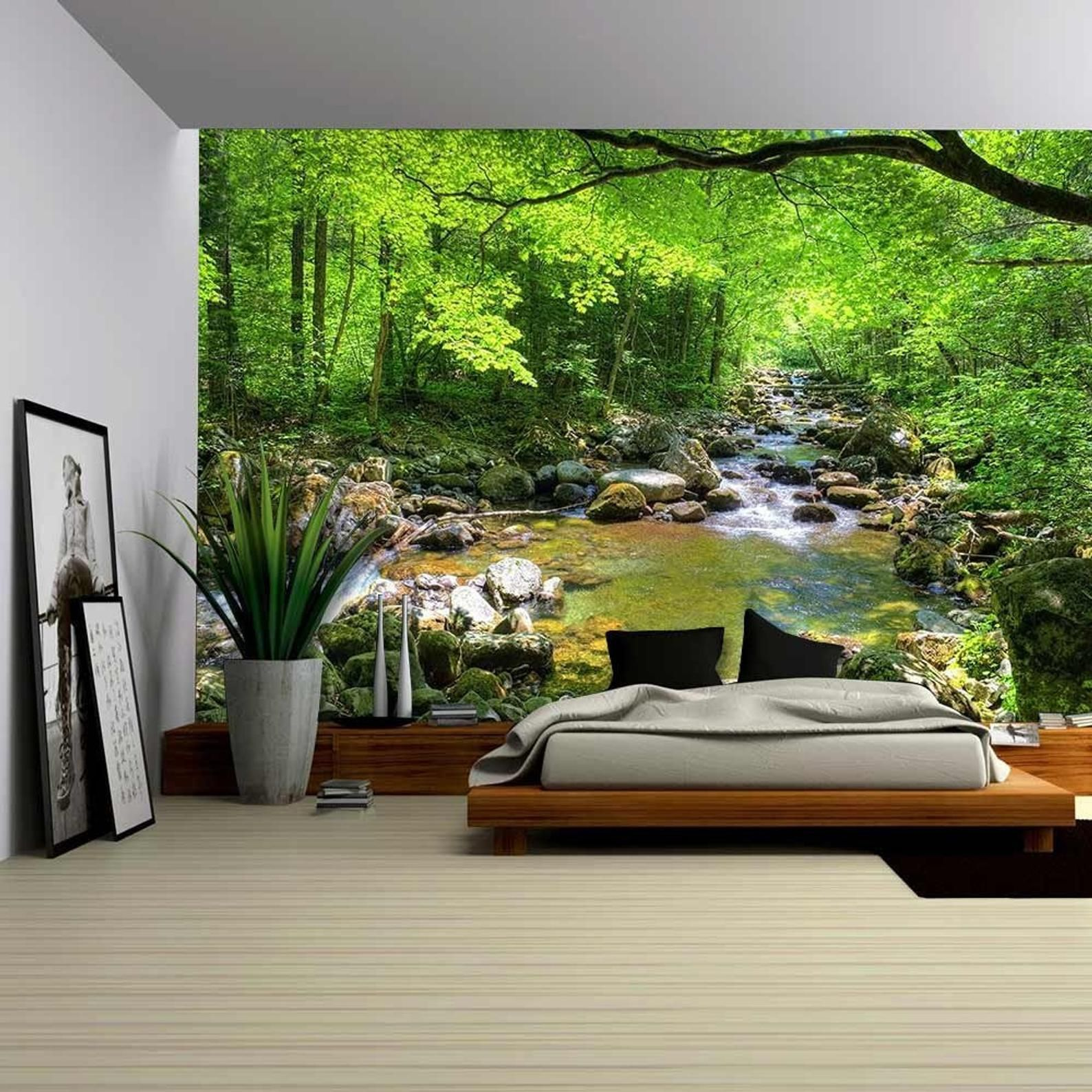 wall26 Fall Forest Stream Smolny in Russian Primorye