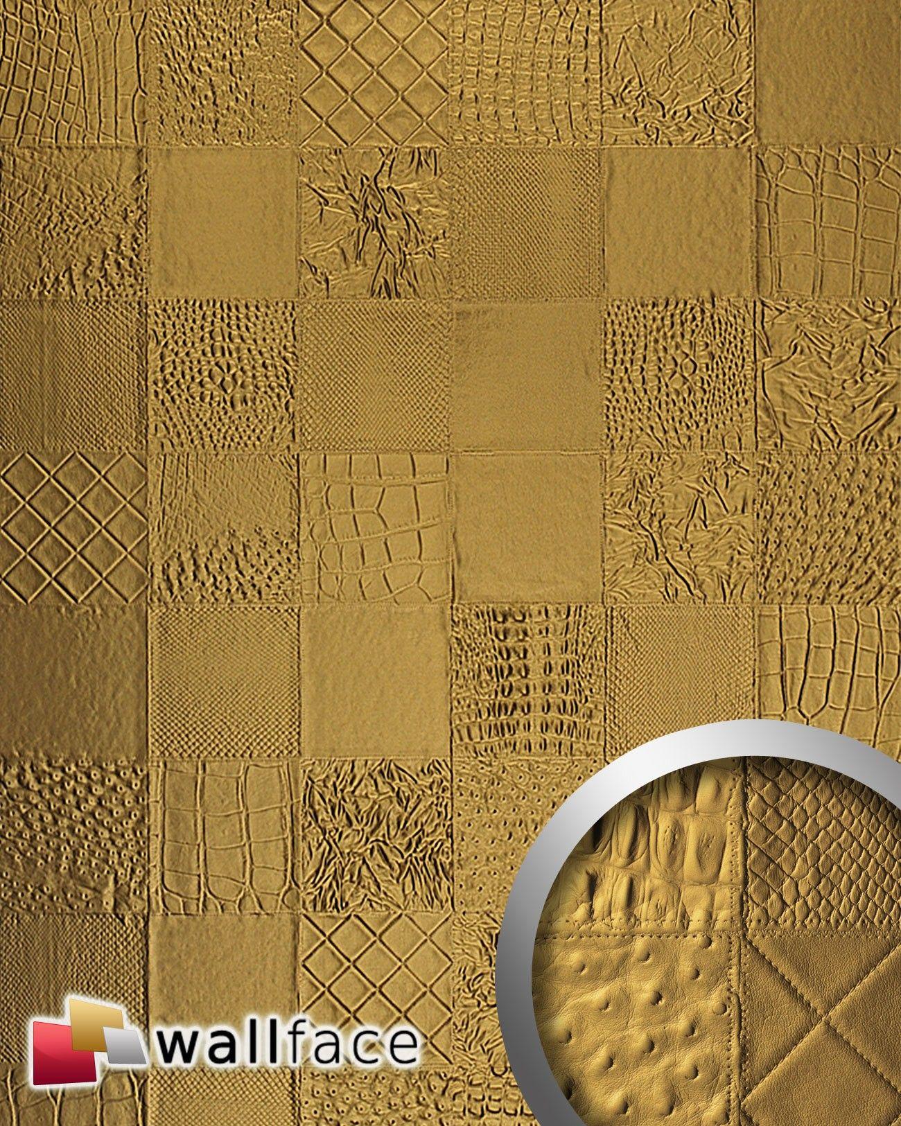 Wandpaneel Luxus 3d Leder Wallface 13926 Collage Blickfang Dekor Selbstklebende Tapete Wandverkleidung Gold 2 60 Qm Verkleidung Wande Selbstklebende Tapete Und Wandpaneele