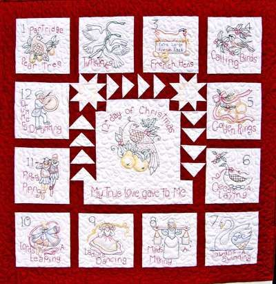 Image detail for -12 Days Of Christmas Quilt & Ornaments Quilt ... : christmas quilting projects - Adamdwight.com