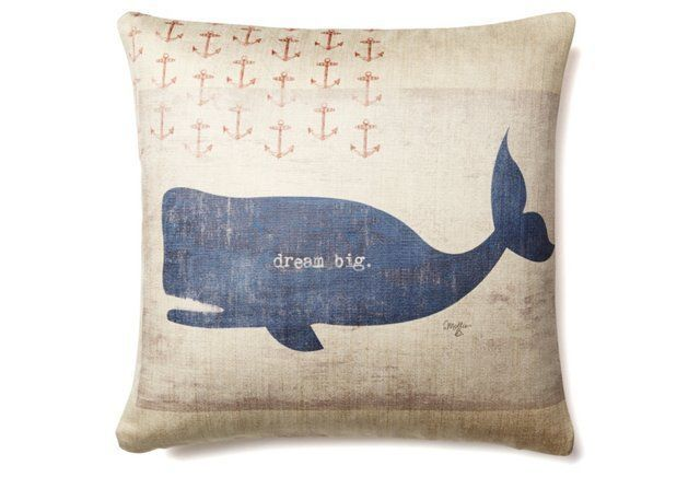 """Dream Big"" 20x20 Pillow, Blue"
