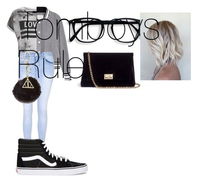 """Tomboys Rule"" by duna748 ❤ liked on Polyvore featuring Religion Clothing, Glamorous, Vans, Rodo and claire's"