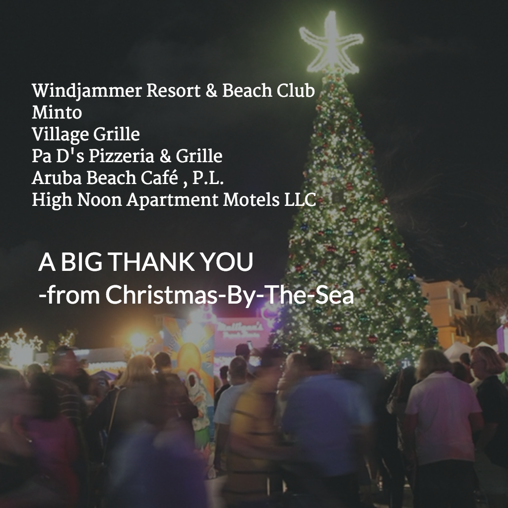 The Annual Tree Lighting In Anglin S Square Will Occur At 6 15 P M Thanks To Windjammer Resort Beach Club Minto Village Grille Pa D Pizzeria
