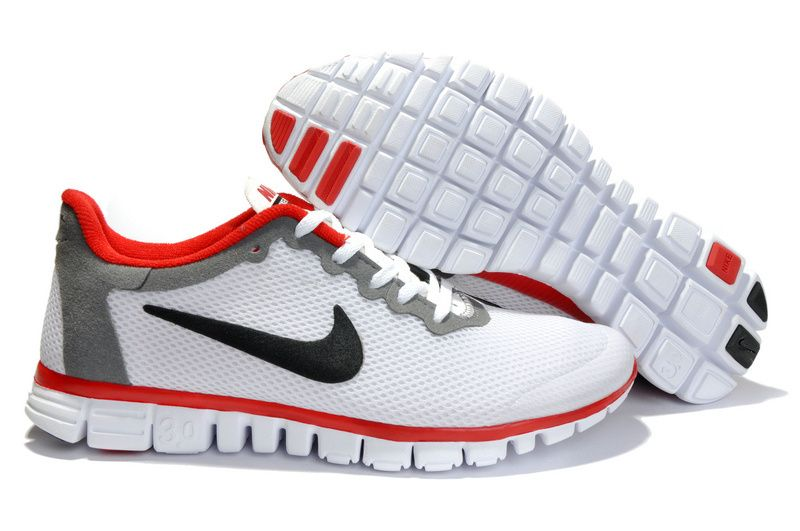 86a62c14fc876 Nike Free 3.0 V2 Womens White Black Red