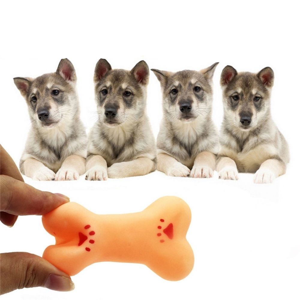 Rubber Squeaky Bone For Dog Toy Puppies Dogs Dog Sounds