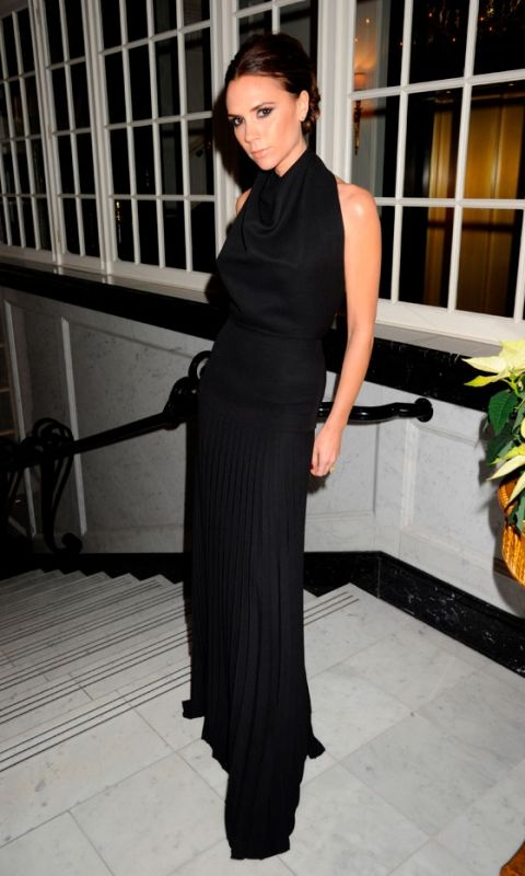 Victoria Beckham Takes A Bow After Her AW12 Show, New York, 2012