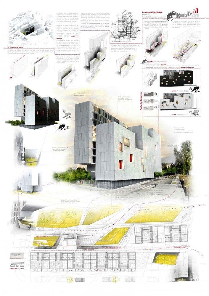 Architecture Design Presentation Sheets galería de kmalaeon: conjunto de viviendas / gea arquitectos - 1