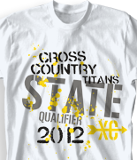 b8d17fe7f IZA DESIGN Cross Country Shirts. Custom Cross Country Team T Shirt Design -  State Qualifier clas-523s1. Specializing in custom cross country team  tshirts ...